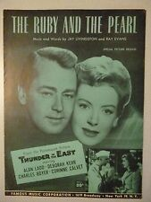 THUNDER IN THE EAST Movie RUBY AND THE PEARL Sheet Music 1952 Alan Ladd Kerr