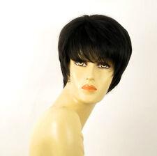 perruque femme 100% cheveux naturel courte noir ref JINGER 1b