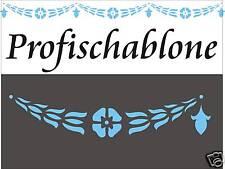 Schablone, Dekorschablone, Wandschablone, Stupfschablone, Stencils, Kordelblüten