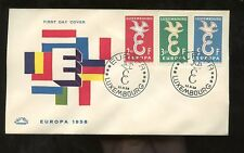 LUXEMBOURG 1958 EUROPA SET ILLUSTRATED FIRST DAY COVER