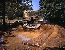WW2 Color Photo M3 Stuart Light Tank US Army  WW2 World War Two