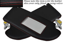 RED STITCH FITS SEAT IBIZA MK4 CORDOBA 02-08 2X SUN VISORS LEATHER COVERS ONLY