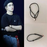 Kpop V Style Cute Lock Bracelet Titanium Steel Fashion Fan Made Goods New