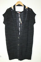 Cora Kemperman Designer Strickweste- Pullover Gr. M  Lagenlook Oversize Grau %