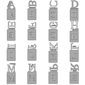 French Alphabet Letters Metal Cutting Dies Scrapbooking Embossing Die Stencils