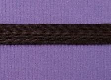 "Uniform Braid Trim Flat Textured Braid Trim Ribbon 3/8"" Black 5 yds #BG178"