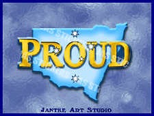 New South Wales State Proud Small Australia Decal Stickers For Car Boat-STN126
