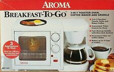 NEW - Aroma 3-in-1 Toaster Oven, Griddle and Electric Coffee Maker ABT-103