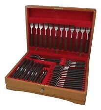 More details for joseph rodgers cutlery - manhattan rosewood - 44 piece canteen for 6