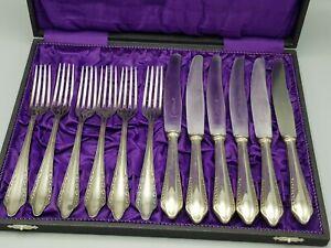 Speisebesteck-Set 12 tlg. Ankermännchen-Marke Messer & Gabeln +alte Box ALPACCA