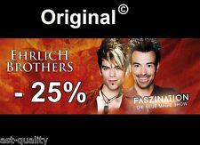 25% auf 2 Tickets Eintrittskarten Ehrlich Brothers Gutschein -- FASZINATION 2017