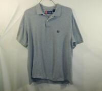 Ralph Lauren Chaps Mens Short Sleeve Polo Golf Shirt Gray Size ADULT LARGE L