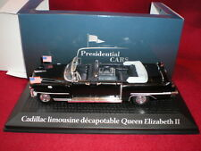 PRESIDENTIAL CARS Cadillac limousine décapotable Queen Elizabeth II 1/43 Norev