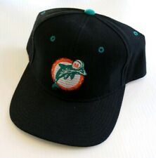 Miami Dolphins NFL Logo Athletic Vintage Fitted Wool Blend Hat 7 1/2 Black 1990s