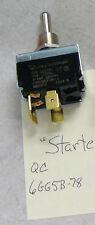 Starter switch, toggle, spade terminal