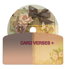 Card Verses And Quotes CD Disk For Card Making Arts & Crafts + Decoupage