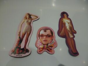 Benefit Cosmetics Vintage Doll x3 Magnets NEW