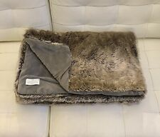Restoration Hardware Luxe Faux Fur Throw 50x60