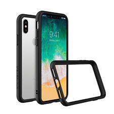 iPhone X Slim Bumper Case [Crashguard] Shock Absorbent Protective Cover - Black