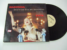 """Madonna – Don't Cry For Me Argentina – Disco Mix 12"""" Vinile GERMANIA 1996 House"""