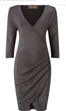 PHASE EIGHT MAISIE SHIMMER CHARCOAL DRESS SIZE 14 BNWOT
