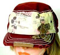 Walt Disney Mickey Mouse Factory Distressed Cap Hat OSFA Adjustable Adult Unisex
