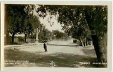 c1930 Piedras Negras Mexico Central Park Boulevard Real Photo