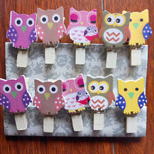 10 Pcs Owl Wood Paper Photo Clip DIY Wall Art Picture Hanging Album Superior