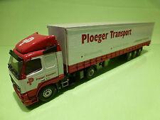 TEKNO HOLLAND VOLVO FH12 380 TRUCK+TRAILER - PLOEGER TRANSPORT - RED 1:50 - VG