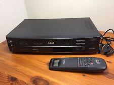 Akai VS-G715 VHS VCR video payer/recorder-tested-black-VGC