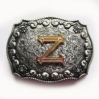 Original Western Initial Letter Z Belt Buckle Gurtelschnalle Boucle de ceinture