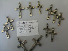lot de 12 anciennes croix 3 modèles diffe Soeur CURE Pretre 1940 bèlière inversé
