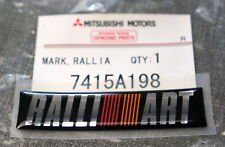 Mitsubishi Ralliart Rear Trunk Nameplate / Badge / Sticker / Emblem JDM