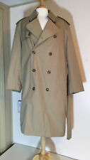 Oleg Cassini Men's Trench Winter Coat Double Breasted, removable lining size 44R