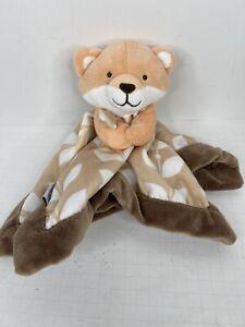 Carter's Fox Baby Lovey Plush Security Blanket Orange Brown Leaves