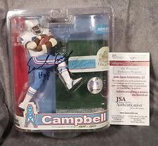 EARL CAMPBELL signed HOUSTON OILERS mcfarlane JSA WITNESS coa variant jersey hof
