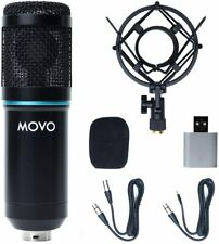 Movo PC-M6 Universal Cardioid Podcasting Microphone for XLR, 3.5mm and USB