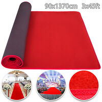3x45ft Red Carpet Aisle Runner Hallway Outdoor and Indoor Celebrity Aisle