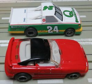 For H0 Slotcar Racing Model Railway Ford MUSTANG+Pickup From Life Like