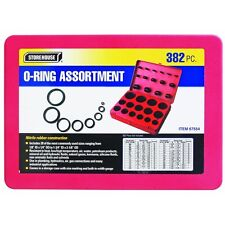 "383 Piece American SAE Nitrile O-Ring Assortment Kit 1/8"" ID To 1-3/4"" ID Buna"