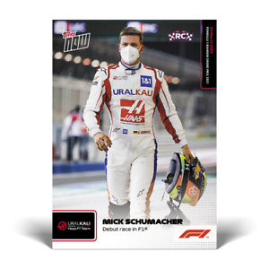F1 TOPPS NOW® UK Card #2 Mick Shumacher Debut Race In F1  ROOKIE CARD PRE ORDER