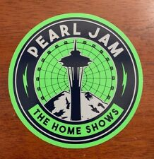 PEARL JAM - Space Needle Logo STICKER Seattle - Safeco Field home shows 2018