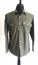 TOMMY HILFIGER Mens Cotton Nylon Blend Long Sleeve Button-Front Outdoor Shirt S