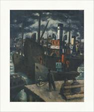 Hafen von Boulogne Frans Masereel Nacht Dunkel Schiff Plakatwelt 1396
