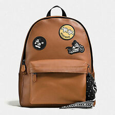 Disney COACH CHARLES BACKPACK IN PATCHWORK LEATHER WITH MICKEY
