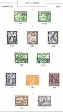British Guyana stamps 1938 Collection of 12 stamps  HIGH VALUE!