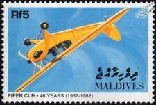 PIPER CUB J-3 / J3 Civil Light Aircraft Stamp (1998 Maldives)