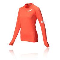 Inov8 AT/C Base Womens Orange Long Sleeve Crew Neck Running Sports Top