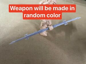3D Printed Custom Spear Weapon For predator Compatible With Mega Construx