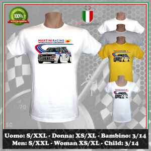 T-SHIRT MARTINI RACING GP RALLY LANCIA DELTA HF EVOLUZIONE GT UOMO DONNA BAMBINO